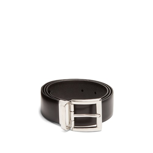 Saffiano-leather belt
