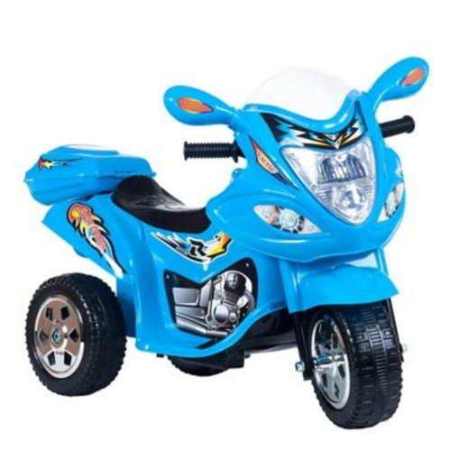 Lil Rider Motorized Ride on Three Wheel Motorcycle Trike, Blue