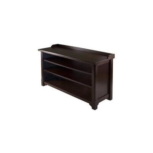 Winsome Dayton Storage Hall Bench with Shelves [Walnut]