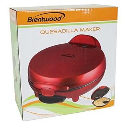 Brentwood TS-120 Appliances Quesadilla Maker, Red