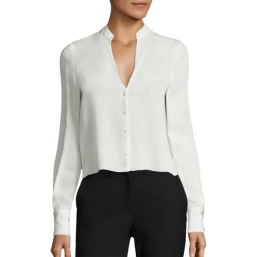 DIANE VON FURSTENBERG Long Sleeve Silk Blend Shirt