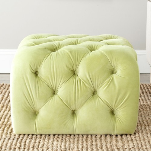 Safavieh Ottomans & Storage Ottomans Safavieh Kenan Lime Green Ottoman