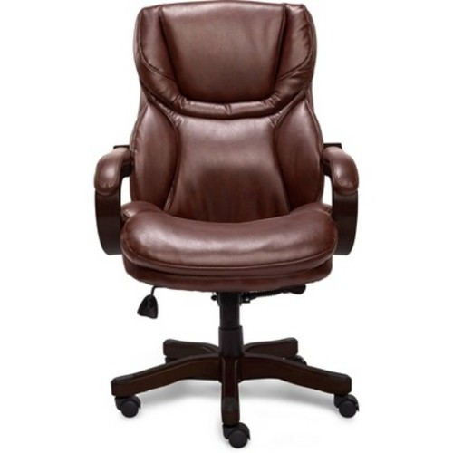 Big & Tall Executive Chair Redwood Leather - Serta