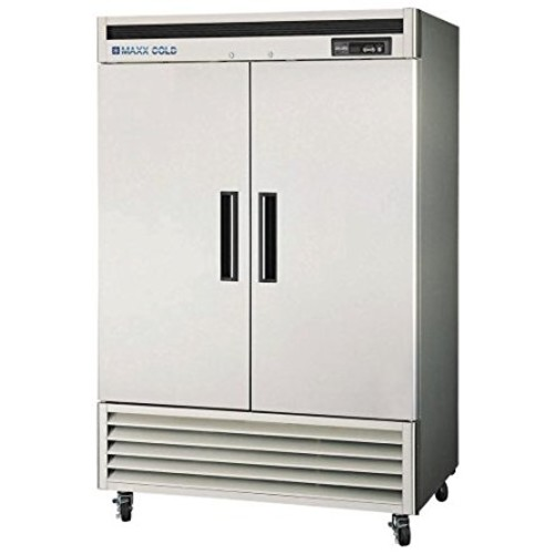 MAXX Cold MCF-49FD 49-Cu-Ft Reach-In Two Door Commercial Freezer, Stainless
