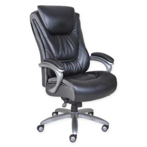 Serta Bliss Big & Tall Leather Executive Office Chair in Black