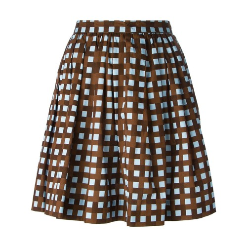 MSGM A-Line Checked Skirt