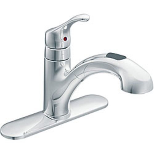 Moen One Handle Chrome Low Arc Pull Out Kitchen Faucet