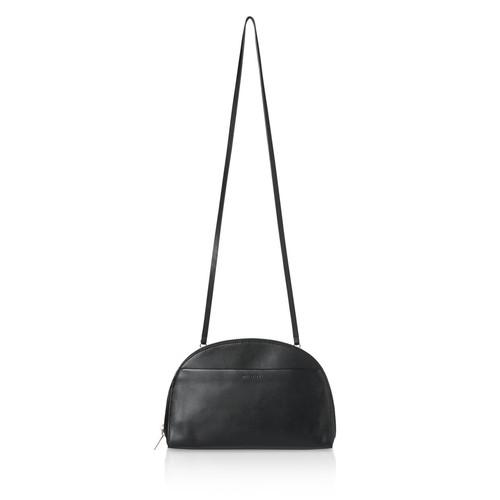 WHISTLES Corso Half Moon Large Leather Shoulder Bag