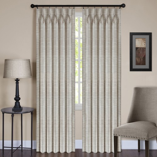 Achim Parker Pinch Pleat Window Curtain Panel [Lined or Unlined : Unlined]