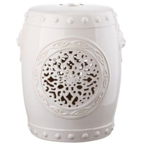 Safavieh - Glazed Ceramic Flower Drum Stool