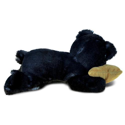Puzzled Sleeping Black Bear With Pillow Plush Animal