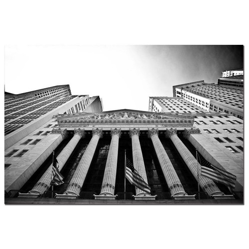 Trademark Global Yale Gurney 'The New York Stock Exchange' Canvas Art [Overall Dimensions : 22x32]