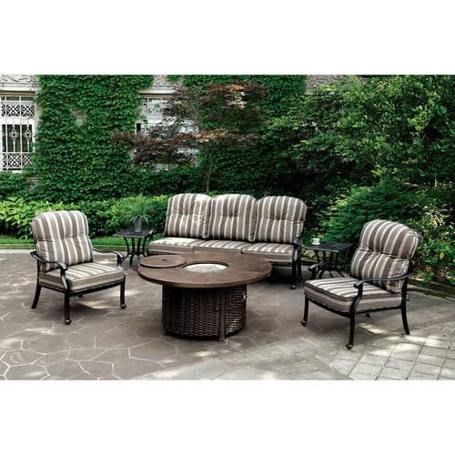 Furniture of America Garner Antique Black Outdoor Chair (Set of 2)