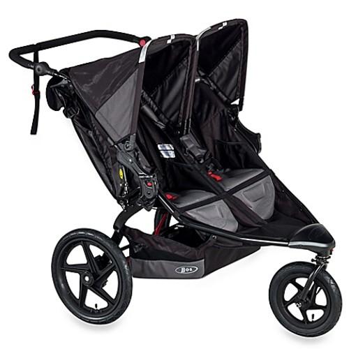 BOB Revolution FLEX Duallie Double Stroller in Black
