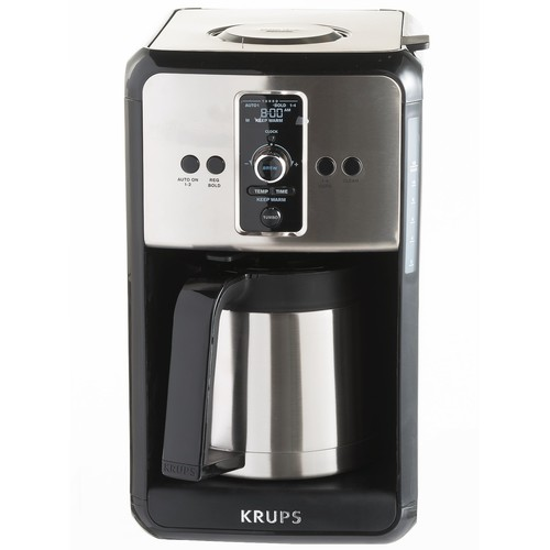 Krups Savoy Turbo Programmable Coffee Maker - 12-Cup Thermal Carafe