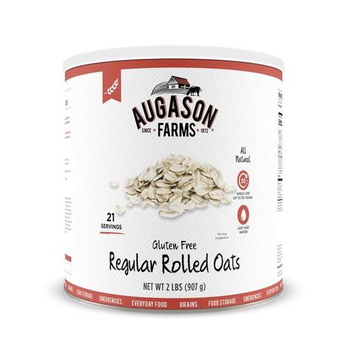Augason Farms Gluten Free Regular Rolled Oats 32 oz #10 Can