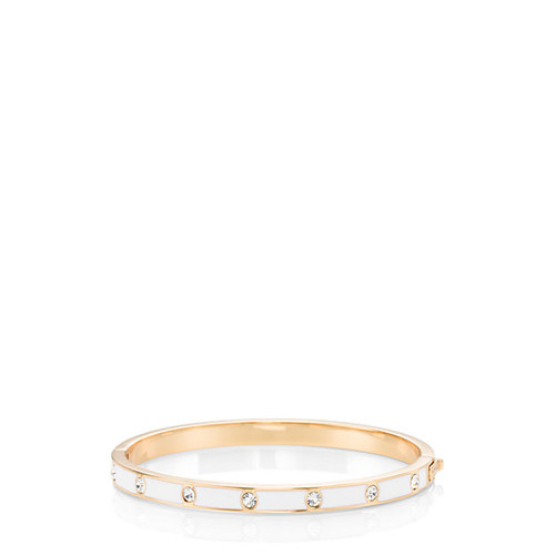 kate spade new york Set In Stone Enamel Hinged Bangle