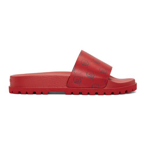 GUCCI Red  Ghost Pursuit Trek Sandals