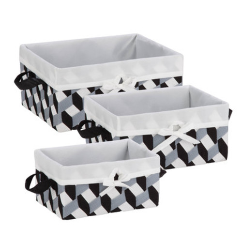 3 Piece Twisted Tote Basket Set