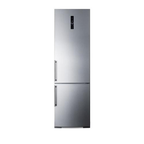 Summit 24 in. W 12.8 cu. ft. Built-In Bottom Freezer Refrigerator in Stainless Steel, Counter Depth