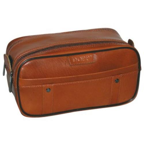 Dopp Men's Veneto Soft Sided Multi-Zip Travel Kit-Leather [Tan, One Size]