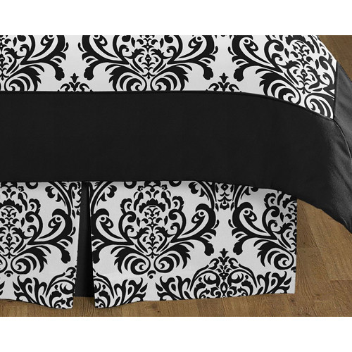 Sweet Jojo Designs Isabella Black and White Collection Queen Bed Skirt