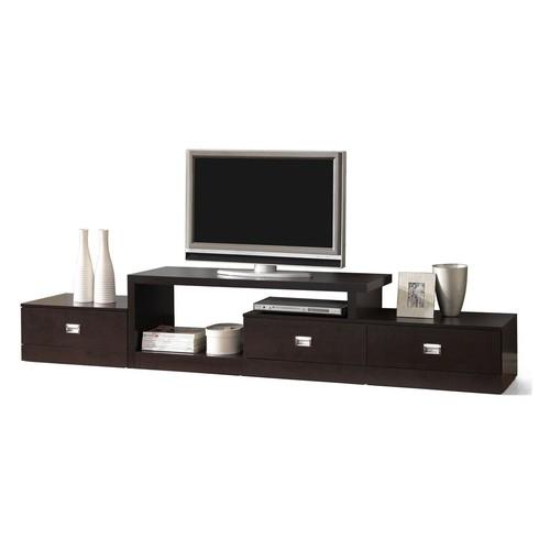Baxton Studio Marconi Brown Asymmetrical Modern TV Stand