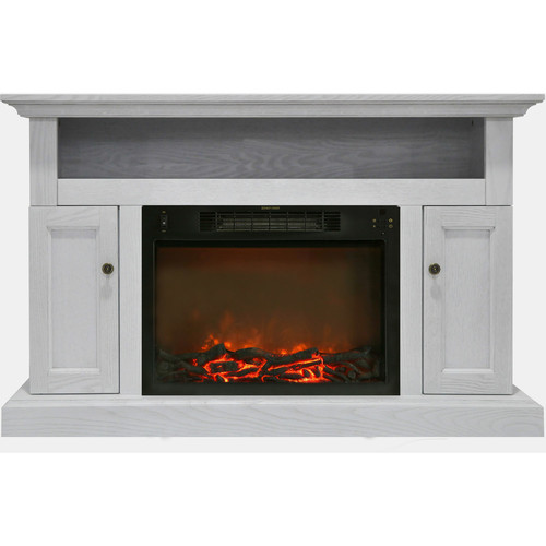 Cambridge Sorrento Fireplace Mantel with Electronic Fireplace Insert, White