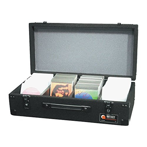 Odyssey CCD300E Carpeted Cd Case With Surface Mount Hardware For 300 View Packs Or 100 Jewel Cases [black]