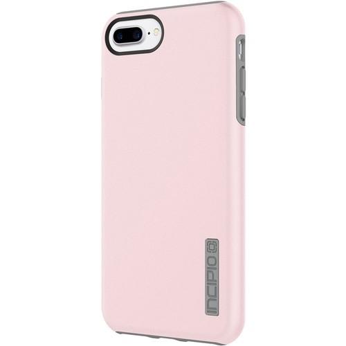 Incipio - DualPro Case for Apple iPhone 7 Plus - Gray/Rose quartz