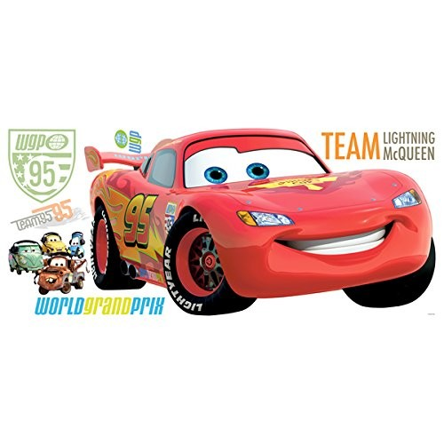 Roommates Rmk1582Gm Disney Pixar Cars 2 Lightning Mcqueen Peel & Stick Giant Wall Decal