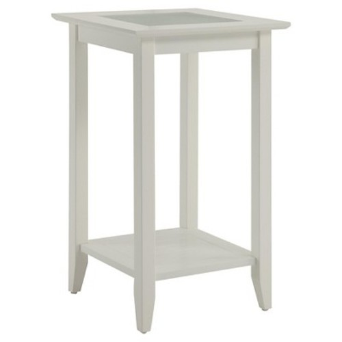 Carmel End Table - White (Medium) - Convenience Concepts