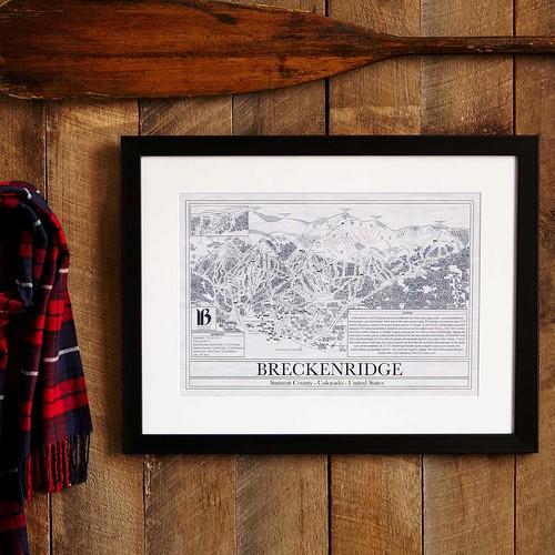Ski Resort Blueprints [Park City Framed]