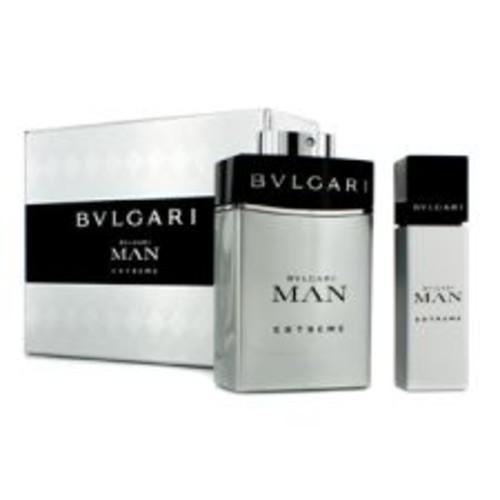 Bvlgari Man Extreme Coffret: Eau De Toilette Spray 100ml/3.4oz + Eau De Toilette Travel Spray 15ml/0.5oz