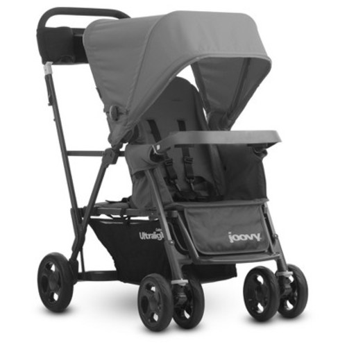 Joovy Caboose Ultralight Graphite Stand-On Tandem Double Stroller - Grey