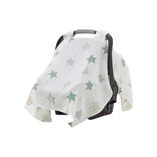Up Up and Away Elephant Car Seat Canopy by aden + anais