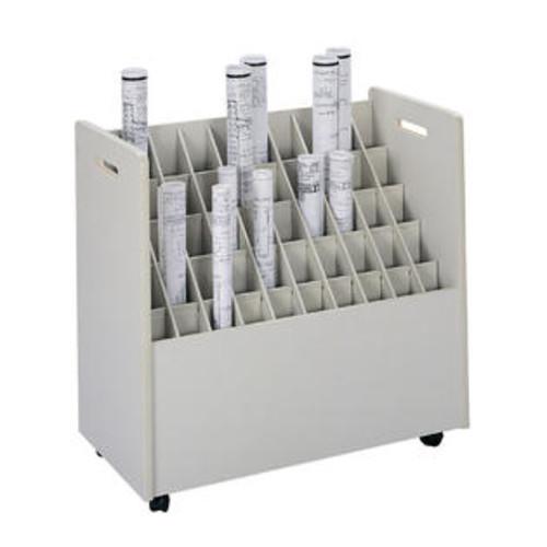 Safco Mobile Roll File, 50 Compartment
