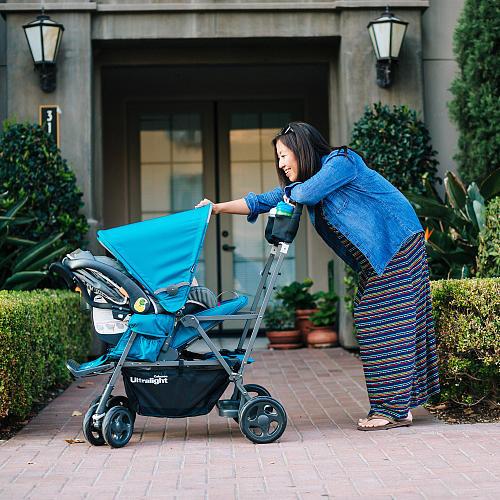 Joovy Caboose Ultralight Graphite Stand-On Tandem Stroller - Turq
