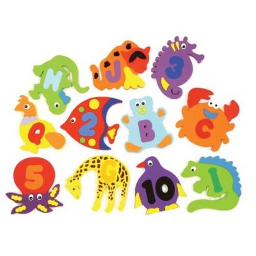 Pacon WonderFoam Bath Toy Ages 3+, Assorted Colors, 39 Pieces Per Set (PACAC4465)