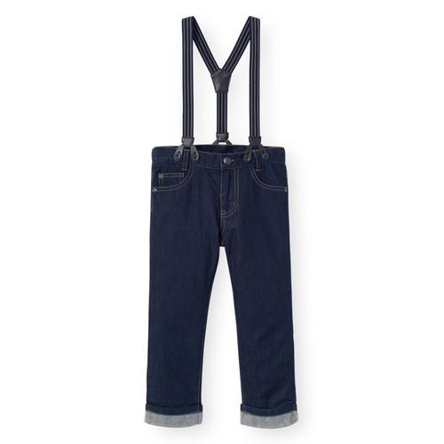 Koala Kids Dark Wash Jeans with Suspenders - Toddler