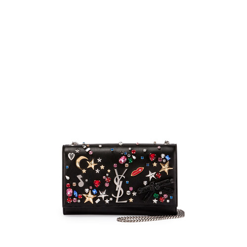 SAINT LAURENT Monogram Medium Mix & Match Chain Shoulder Bag, Black/Multi