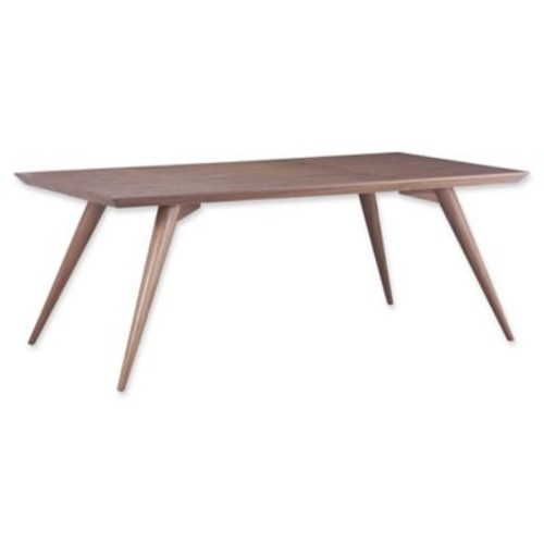 Zuo Modern Stockholm Dining Table in Walnut