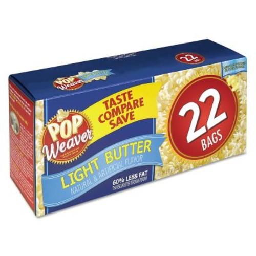 Pop Weaver Microwave Popcorn, Light Butter, Popcorn, 2.5 oz (105511)