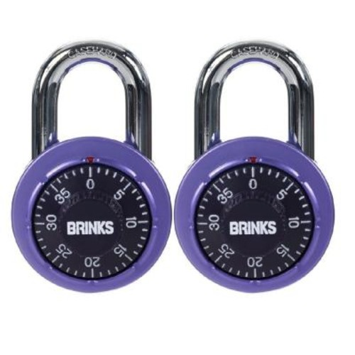 Brinks Home Security Dial Anodized Combination Lock (2-Pack)
