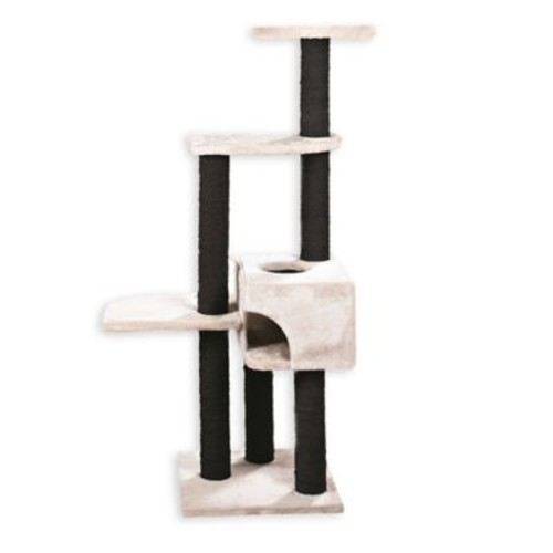 Trixie Pet Products Alicante Cat Tree in Light Grey