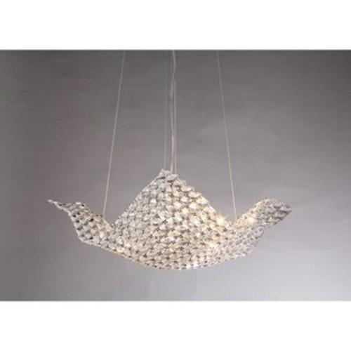 Rapunzel Chrome and Crystal 6-light Basket Chandelier