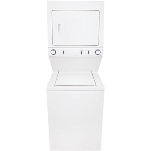 Frigidaire FFLG3911QW Unitized 3.8 Cu. Ft. Washer and 5.5 Cu. Ft Gas High Efficiency Dryer