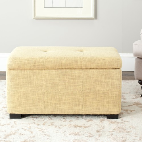 Safavieh Hudson Collection Maiden Small Tufted Storage Bench