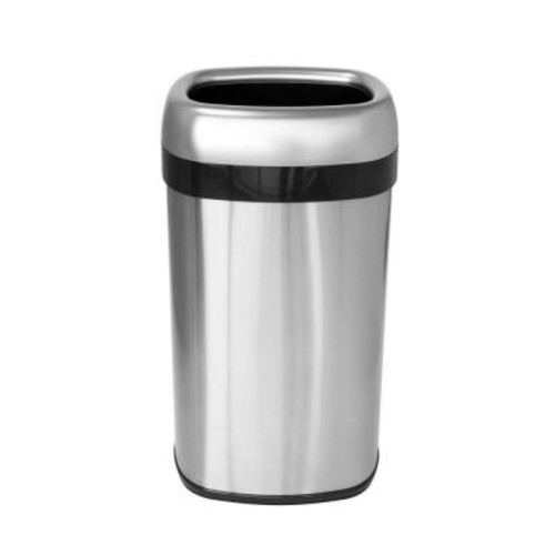 iTouchless 16 Gal., 12 in. Opening Commercial Grade Stainless Steel Dual-Deodorizer Oval Open Trash Can