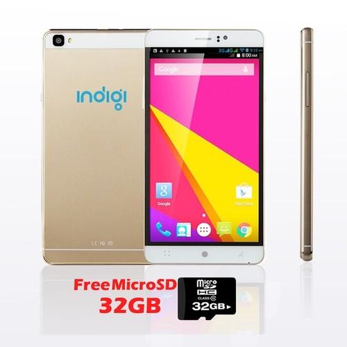 Indigi M8 Factory Unlocked 3G GSM+WCDMA 6.0inch HD Display Android 5.1 Lollipop Dual-Core Dual-Sim SmartPhone w/ 32gb microSD